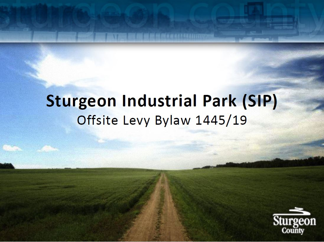 Sturgeon Industrial Park (SIP) - Offsite Levy Bylaw Update